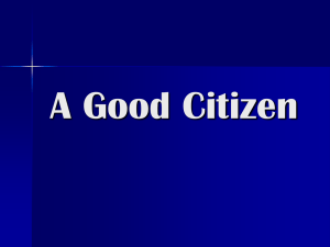 A Good Citizen
