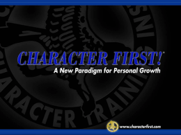 Character First