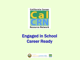 Engaged in School and Career Ready JMC