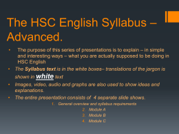 The-HSC-English-Syllabus-â