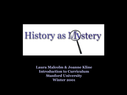 History as Mystery!: a problem based curriculum