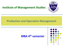MBA 4th semester Orientation