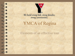 Tour Training - YMCA of Regina