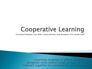 Cooperative Learning Courtnee Panduren, Cori Shek