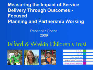 Measuring the impact of service delivery through outcomes