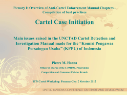 2. Cartel Case Initiation (cont