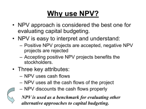 Why use NPV?