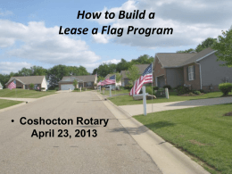 How to Build a Lease a Flag Program