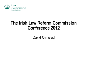 The Work of the Law Commission - the Law Reform Commission of