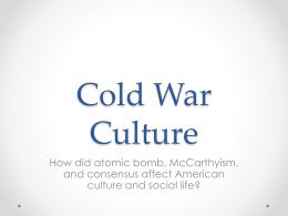 Postwar Culture Lecture