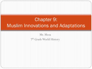 Chapter 9: Muslim Innovations and Adaptations