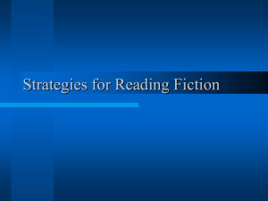 Strategies for Reading Fiction