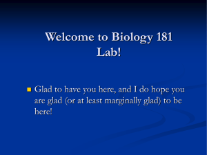Beginning biology - First Class Powerpoint - U