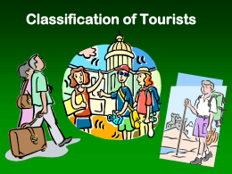 3. Classification of tourists - CCSC Tourism & Hospitality Studies