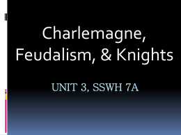 Charlemagne Unit 3, SSWh 7A