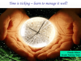 Time Management - Acusis Philippines