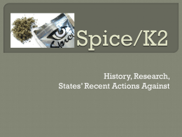Spice/K2 - Stop Rx Drug Abuse