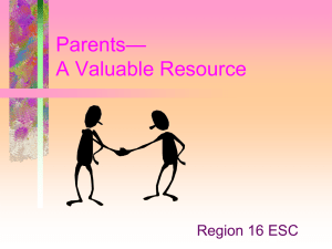 Parents - A Valuable Resource