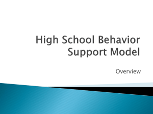 High School Behavior Intervention Model