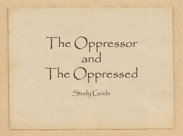 The Oppressor and The Oppressed Study Guide Clues . . . for