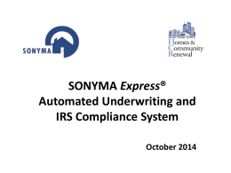 What is SONYMA Express