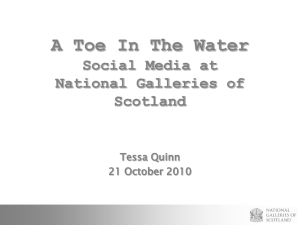 A Toe in the Water - The digital futures of cultural heritage education