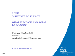 RCUK Pathways to Impact