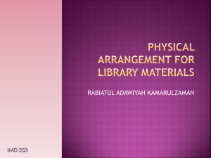 physical arrangement for library materials - JIS110A 2009-2012