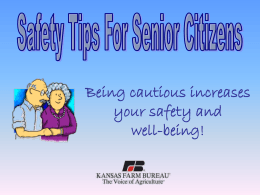 Safety Tips for Senior Citizens PowerPoint