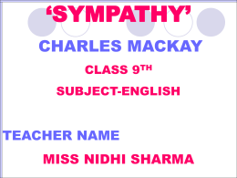 Sympathy_9th_English_GSSSSidhuwal