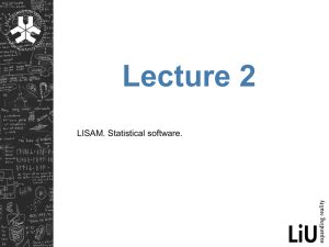 LISAM. Statistical software