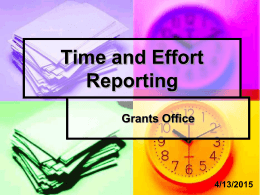 Time and Effort Reporting - Yosemite Community College District