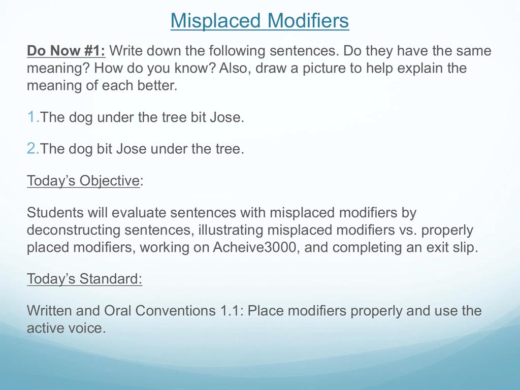 worksheet Misplaced Modifier Worksheet 005436591 1 cf56a55c89bf9f0a4d73e167e3e5aaf6 png