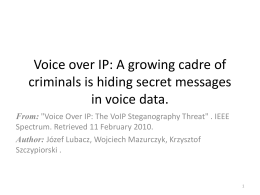 A Security Model for VoIP Steganography
