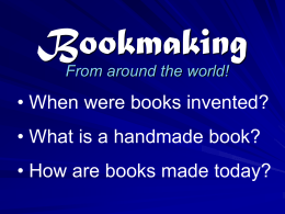 Bookmaking