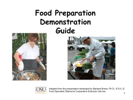 How to Give a Food Demonstration - University of Missouri Extension