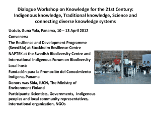 Dialogue Workshop on Knowledge for the 21st Century: Indigenous