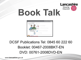 `Book Talk` is…