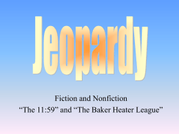 1159 and Baker Heater and Fiction Nonfiction Review