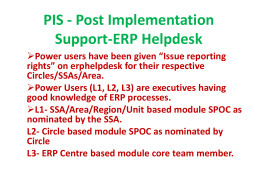 ERP Post Implementation Support