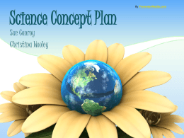 science concept plan & entrepreneurship
