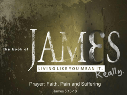 Prayer, Faith, Pain and Suffering