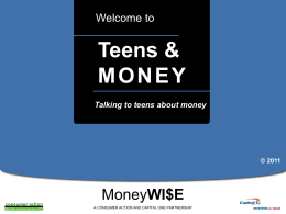 Talking to Teens about Money - Powerpoint
