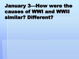 January 7—Complete a KWL on World War II.