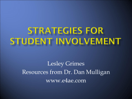 Strategies for Student Involvement