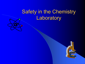 Safety in the Science Laboratory