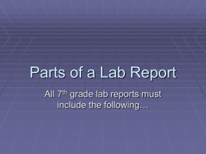 Parts of a Lab Report