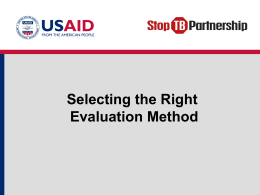 Selecting the Right Evaluation Method