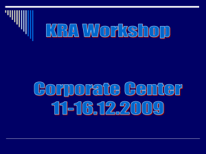 kra workshop ppt