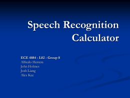Speech Recognition Calculator